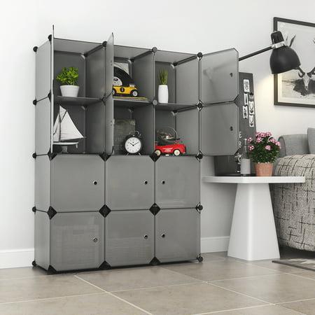 langria 12 cube cabinet storage unit organiser. Black Bedroom Furniture Sets. Home Design Ideas
