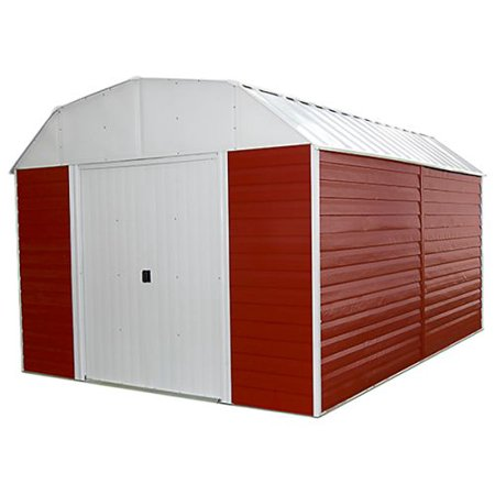 Red barn 10x14 storage shed red eggshell and gambrel for Gambrel gable
