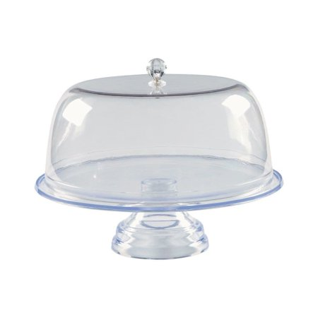 Clear Footed Cake Stand with Cover ()