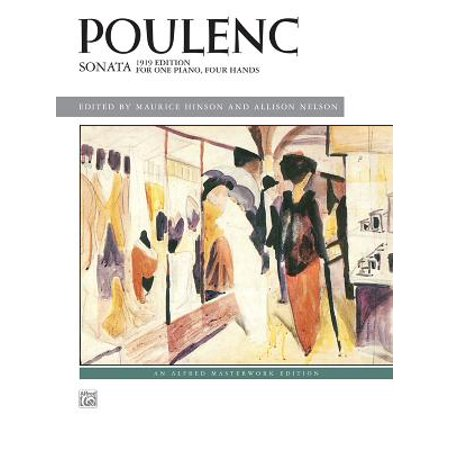 Poulenc Sonata : 1919 Edition for One Piano, Four Hands