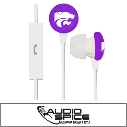 Kansas State Wildcats Ignition Earbuds + Mic