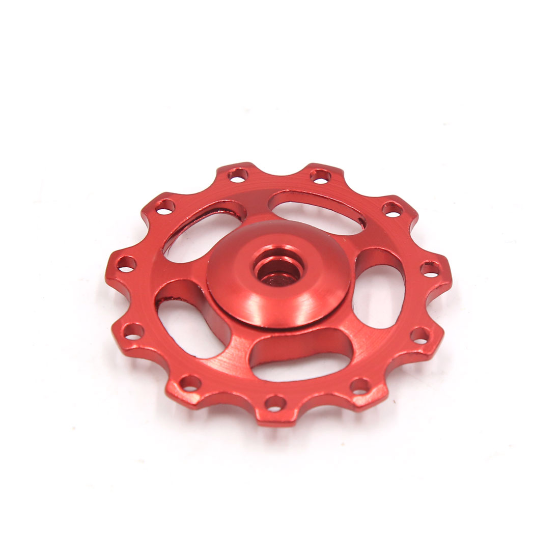 Red Aluminium Alloy 11 Teeth Bike Bicycle Rear Derailleur Pulley Guide Bearing