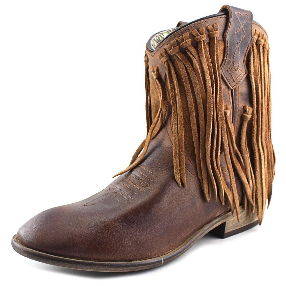 Dingo Gigi Women Round Toe Leather Brown Western Boot by Dingo