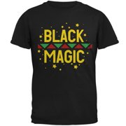 Black History Month Magic Star Pan African Mens T Shirt Black MD