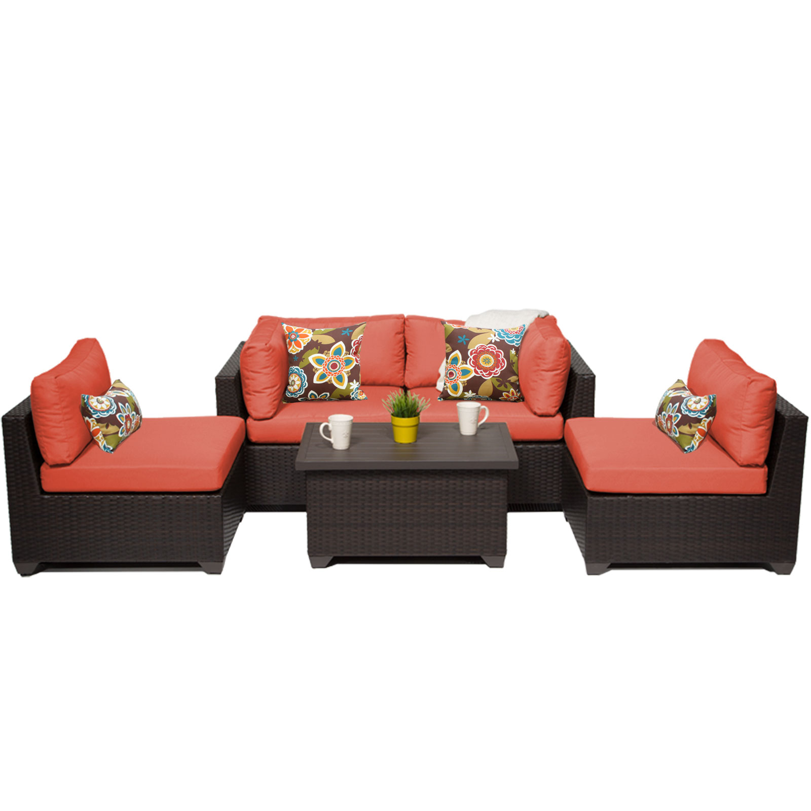 Premier 5 Piece Outdoor Wicker Patio Furniture Set 05c