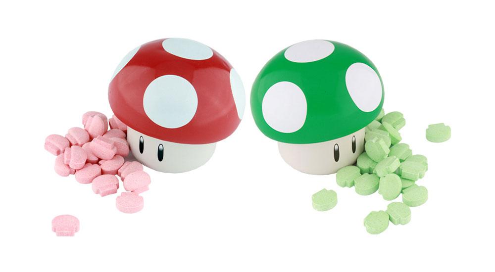 Super Mario Bros Mushroom Tin Sour Candies Set Of 2 Walmart Com Walmart Com