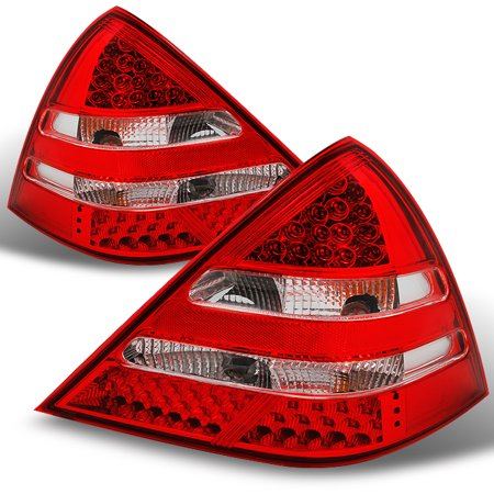 1998-2004 Benz R170 SLK Class Red Clear LED Taillights Brake Lamps Replacement Class Led Tail Lights Lamps