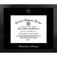 University of Georgia 15w x 12h Manhattan Black Single Mat Gold Embossed Diploma Frame with Bonus Campus Images Lithograph (value savings at $59)