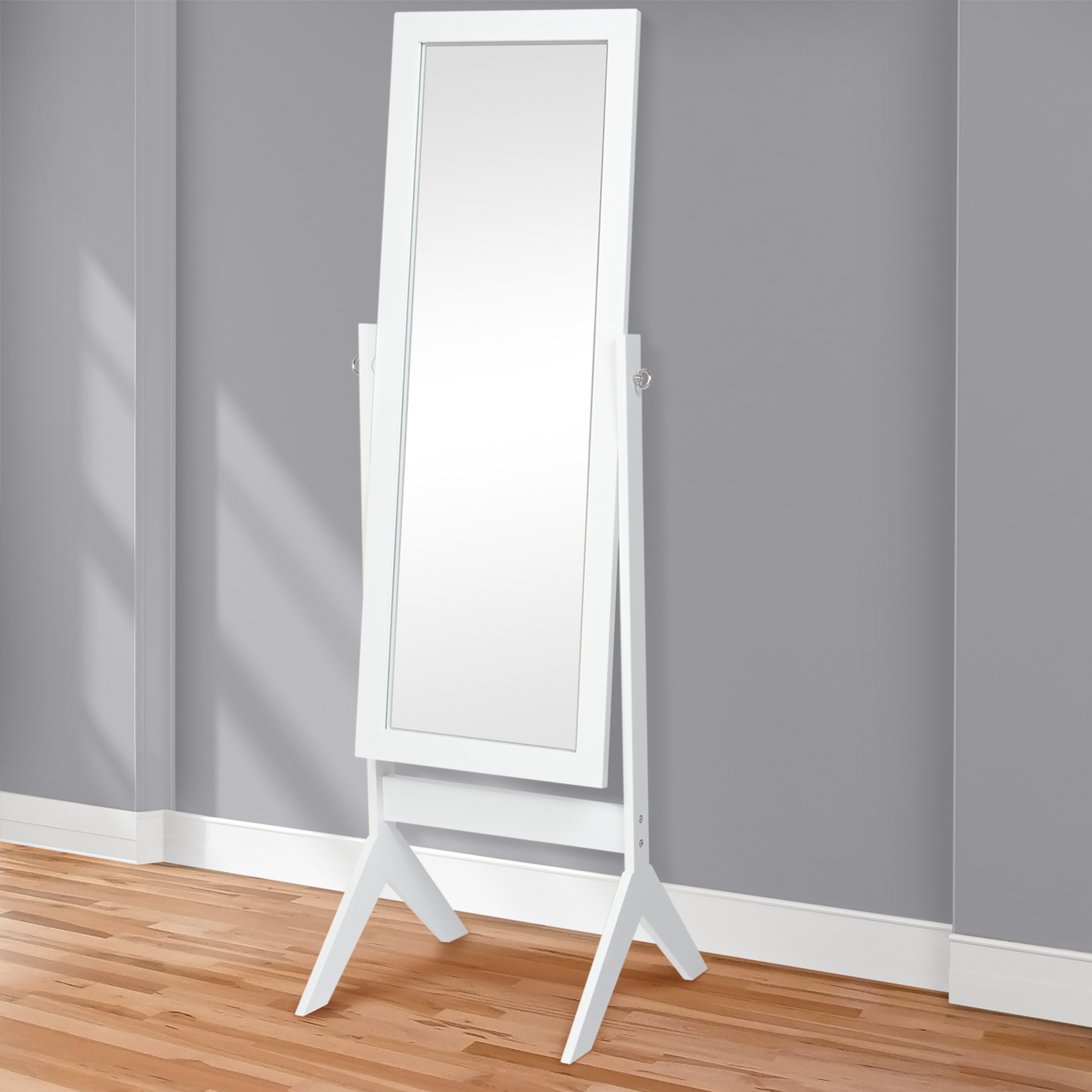 Best Choice Products Cheval Floor Mirror Bedroom Home Furniture- White by