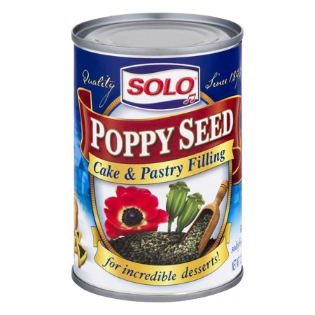 Solo Cake & Pastry Filling, Poppy Seed, 12.5 -