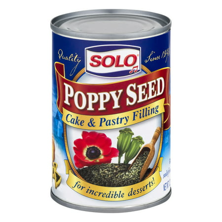 Solo Cake & Pastry Filling, Poppy Seed, 12.5 Oz