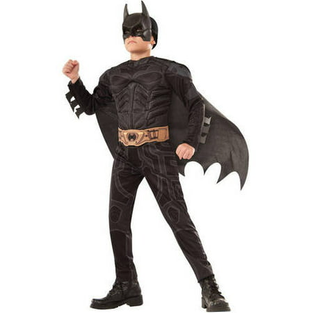 Batman Dark Knight Child Muscle Chest Halloween Costume - Origins Of Halloween For Children