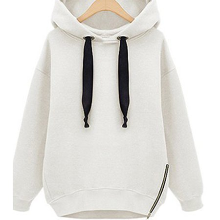 Fashion Women Oversized Hoodies Long Sweatshirt Side Zip Jacket Coat Tops Plus Casual Sweatshirts