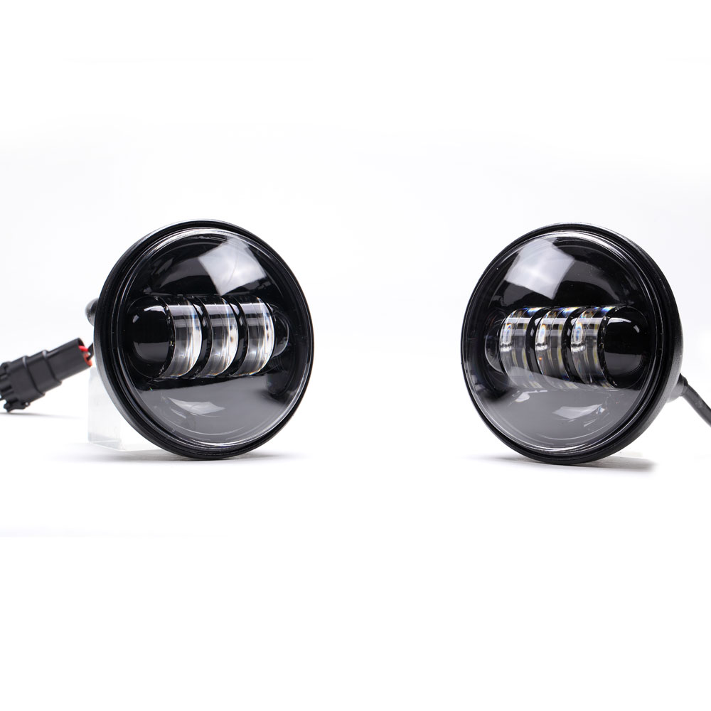"""New 7/"""" Led Projector Daymaker Headlight /& Passing Lights For Harley Touring Blac"""