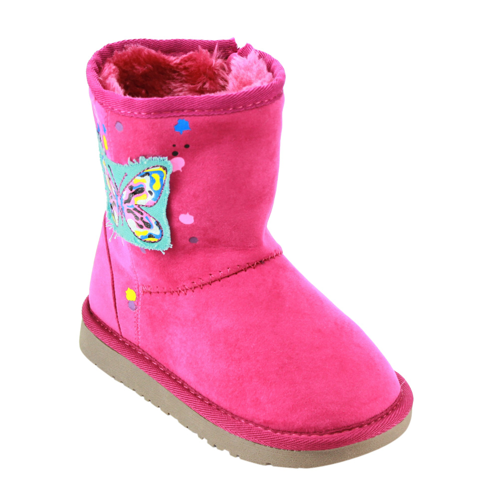 BETANI FE27 Girl's Toddlers Butterfly Ankle High Flat Heel Snow Winter Boots by Winter Boots