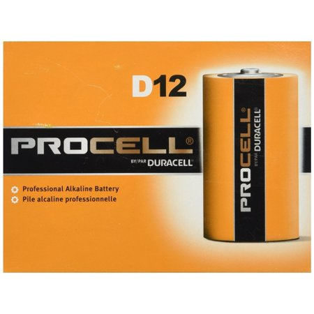 DURACELL New Mega Size Package D12 PROCELL Professional Alkaline Battery 24 Count Value