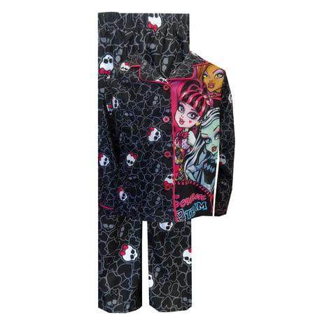 Monster High Pajamas (Monster High Scream Team Button Front)