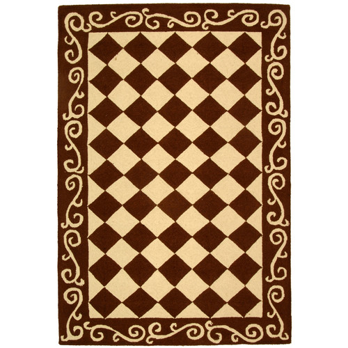 Safavieh Chelsea Brown / Ivory Area Rug