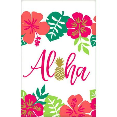 Hawaiian Luau 'Aloha' Paper Table Cover (1ct) - Luau Table Decorations