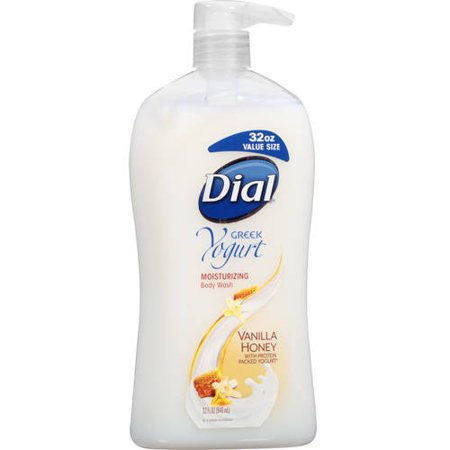 Dial Greek Yogurt Vanilla Honey Moisturizing Body Wash, 32 f