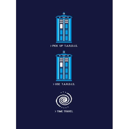 8 Bit Video (8 Bit Tardis - Doctor Who Video Game Mashup Print Wall Art By Boots)