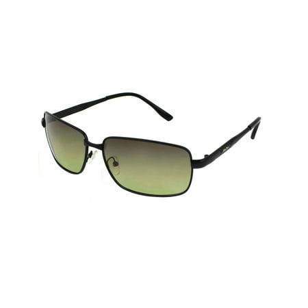 Man Black Full Frame Rectangular Lens Leisure Polarized Sun Glasses (How To Make Polarized Glasses At Home)