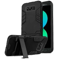 HR Wireless Hard Shockproof Plastic TPU Cover Case w/stand For Samsung Galaxy S8 Plus - Black