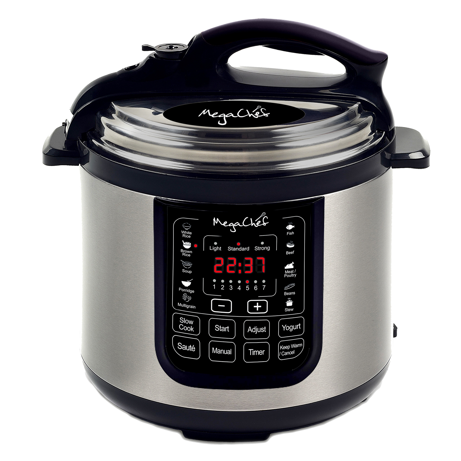 MegaChef 8 Quart Electric Pressure Cooker with 13 Pre-set Multi Function Features