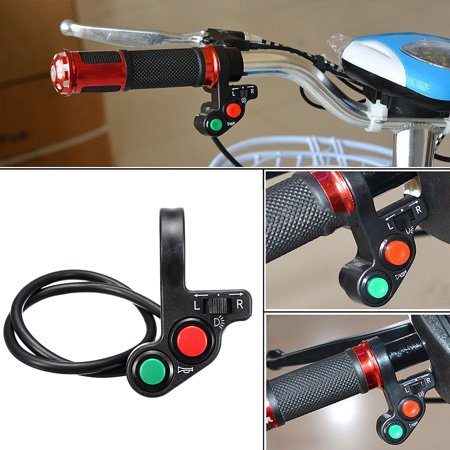 Universal Electric Motorcycle Handlebar On Off Control Switch Turn Signal Light ATV Bike Engine Bicycle Horn Indicator
