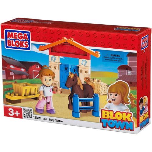Mega Bloks BlokTown Pony Stable Play Set