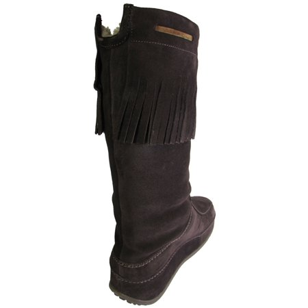 907be4fca FitFlop - FitFlop Womens Superfringe Mukluk Suede Boots - Walmart.com