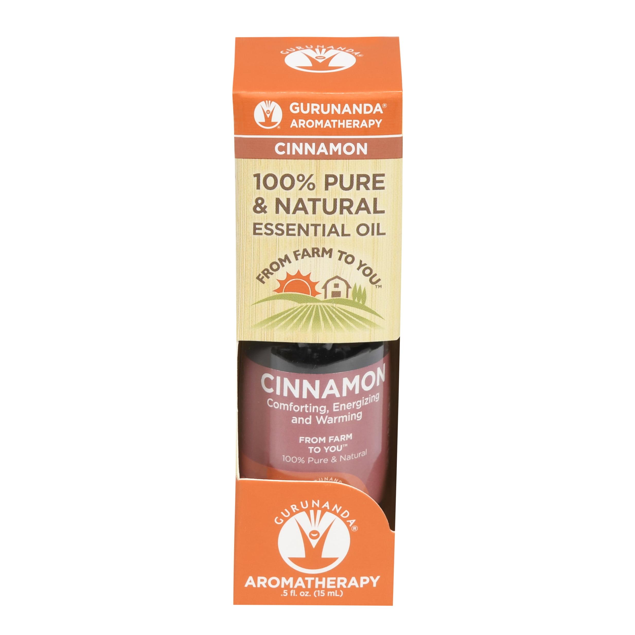 GuruNanda Aromatherapy 100% Pure & Natural , Cinnamon, .5 fl oz