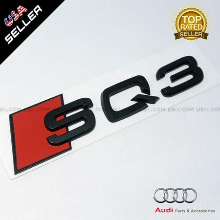 OEM ABS Nameplate Audi SQ3 Matte Black Emblem 3D Trunk Logo Badge Decoration