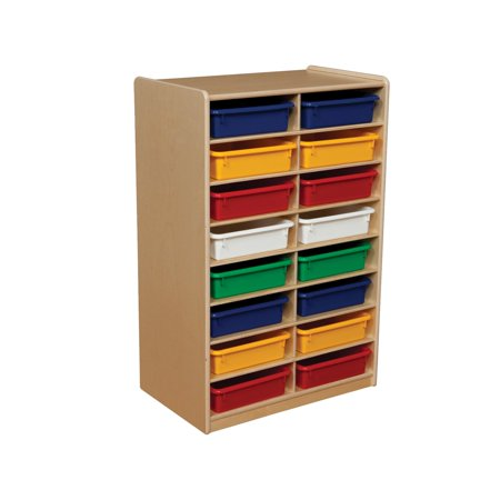 12 Tray Unit (Wood Designs 12 Letter Tray Storage Unit with 3 in. Trays)
