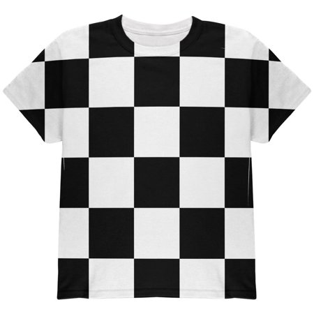 T-shirt Checkered Flag - Finish Line Checkered Flag All Over Youth T Shirt