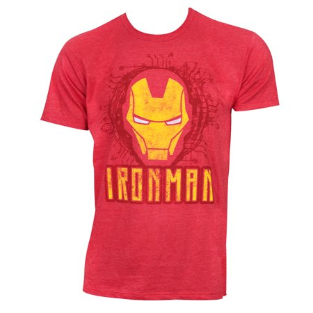 Iron Man Face Logo Red Tshirt (Iron Man Suits For Kids)