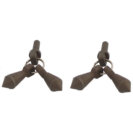 Jingle Bobs for Mens Horse Riding Western Show Spur Parts Antique Brown (Horse Riding Spurs)