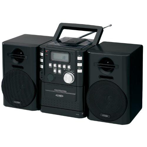 JENSEN JENCD725B Jensen CD725 High Quality Audio CD/Cassette Mini System