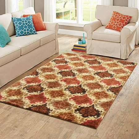 Better Homes And Gardens Spice Damask Area Rug Multiple