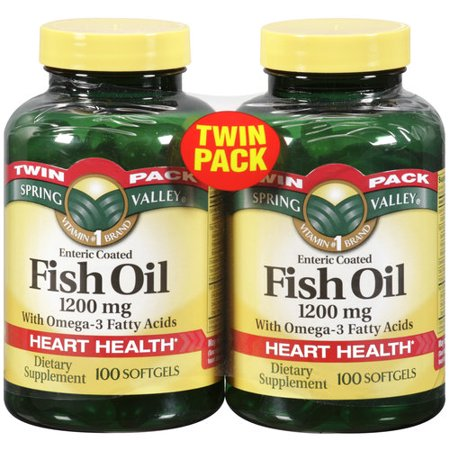 Spring valley fish oil dietary supplement 1200mg 100 pc for Spring valley fish oil review