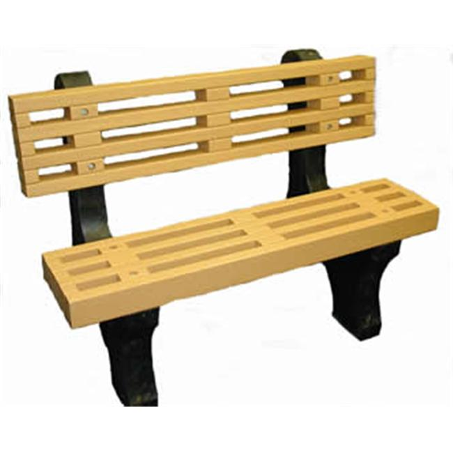 Engineered Plastic Systems DB4 4 ft Designer Bench in Cedar