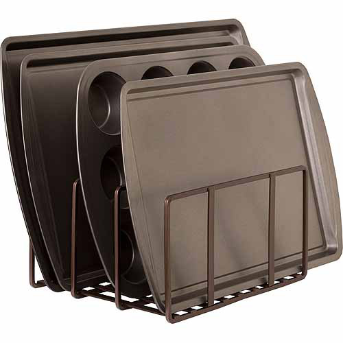 Seville Classics Kitchen Pantry and Cabinet Organizer, Bronze