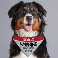 Control My Licker Personalized Dog Bandana