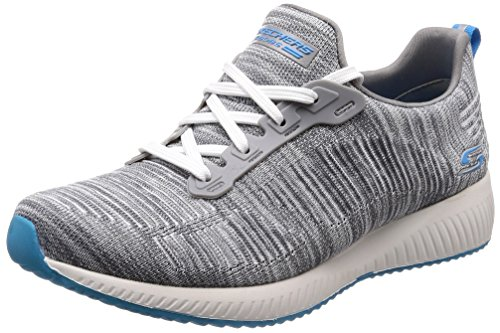 Skechers Bobs by Squad Sizzle Women's Sneakers, Gray Turquoise 5.5 US by Skechers