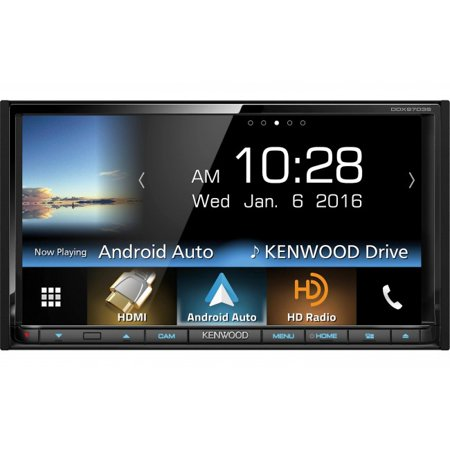 """Kenwood DDX9703S 6.95"""" Double-DIN In-Dash DVD Receiver with Bluetooth, Apple CarPlay, Android Auto, HD... by"""