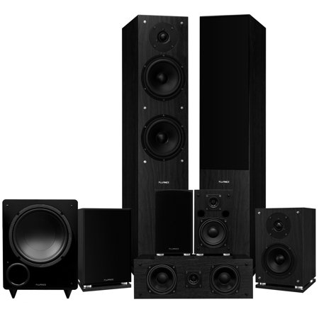 d9e51ffe9 Fluance Elite Series Surround Sound Home Theater 7.1 Channel Speaker System  including Floorstanding