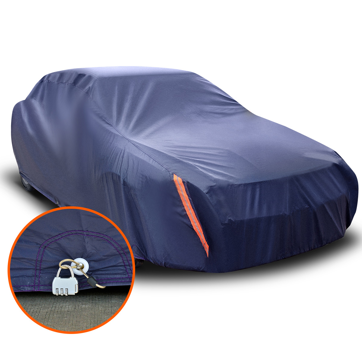 MEDIUM SIZE FULL CAR COVER UV PROTECTION WATERPROOF OUTDOOR BREATHABLE PEVA