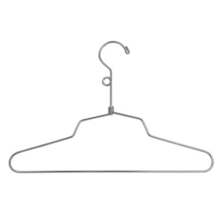 "Econoco - SLD/12-LH - 12"" Chrome Blouse or Dress Hanger with Loop Hook - Sold in Pack of 100"