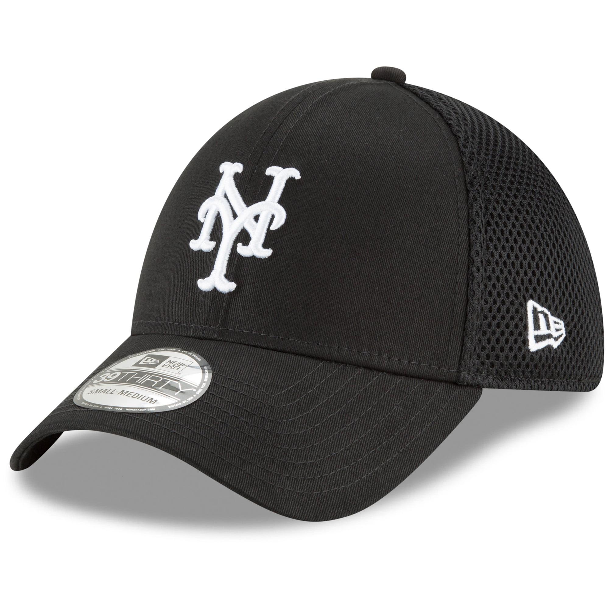 New York Mets New Era Neo 39THIRTY Unstructured Flex Hat- Black