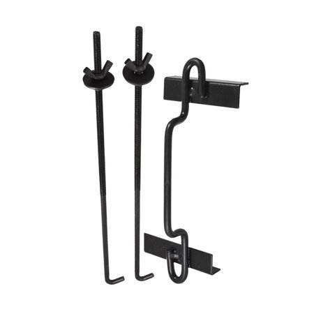 Unique Bargains Unique Bargains 3 in 1 Charger Battery Tray Hold Down Kit Black for Car